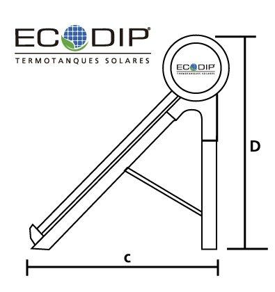 medidas- laterales-termotanque-solares- presurizados -ecodip