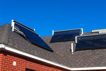Termotanque split solar para techo con pendiente